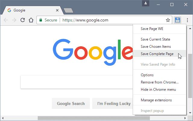 一款直接保存网页为html文件的浏览器插件